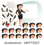 businesswoman. parts of body... | Shutterstock .eps vector #184772327