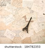 antique french postcards and... | Shutterstock . vector #184782353