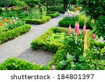 classic landscape design with... | Shutterstock . vector #184801397