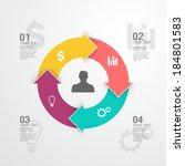 business infographic | Shutterstock .eps vector #184801583