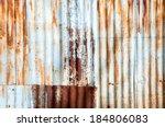Closeup Rusted Galvanized Iron...