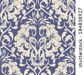 vector damask wallpaper. design ...