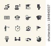 soccer referee icons set | Shutterstock .eps vector #184840037
