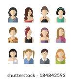 set of twelve flat design icon... | Shutterstock .eps vector #184842593