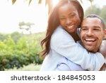 portrait of loving african... | Shutterstock . vector #184845053