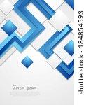abstract tech vector bright... | Shutterstock .eps vector #184854593