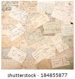 vintage postcards. old... | Shutterstock . vector #184855877