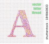 vector letter strings | Shutterstock .eps vector #184860833