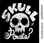 skull vector - stock vector