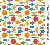 seamless pattern with colorful... | Shutterstock .eps vector #184927967