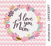 happy mother's day card. bright ... | Shutterstock .eps vector #184930397