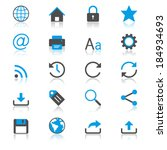 web flat with reflection icons | Shutterstock .eps vector #184934693