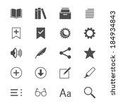 e book reader flat icons | Shutterstock .eps vector #184934843