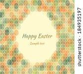 seamless pattern easter card... | Shutterstock .eps vector #184935197