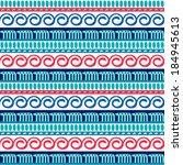 vector seamless ethnic pattern. ... | Shutterstock .eps vector #184945613