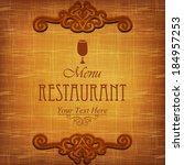 vintage design menu restaurant. | Shutterstock .eps vector #184957253