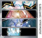 a set of several colored banners | Shutterstock .eps vector #184970873