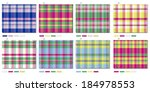 vectoral plaid pattern with... | Shutterstock .eps vector #184978553