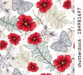 seamless pattern with red...   Shutterstock .eps vector #184981697