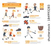 sport and exercises... | Shutterstock .eps vector #184993283