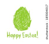 happy easter  sketch greeting... | Shutterstock .eps vector #185004017