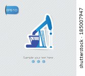 oil industry symbol vector | Shutterstock .eps vector #185007947