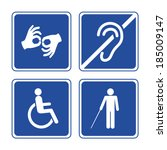 Disabled Signs  Deaf  Blind ...