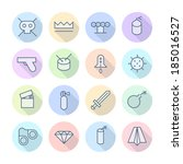 thin line icons for... | Shutterstock .eps vector #185016527