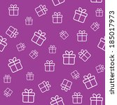 seamless pattern with gift boxes | Shutterstock .eps vector #185017973