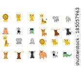 vector set of different cartoon ... | Shutterstock .eps vector #185057963