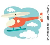 illustration of a helicopter in ... | Shutterstock .eps vector #185070347