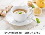 ginger lemon tea | Shutterstock . vector #185071757