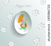 greeting card with easter... | Shutterstock .eps vector #185086733