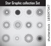 star graphic collection. vector ... | Shutterstock .eps vector #185097347