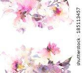 Постер, плакат: Floral background Floral card