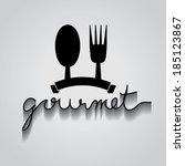 gourmet typo vector  eps 10 | Shutterstock .eps vector #185123867