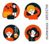 vector illustrations. set of... | Shutterstock .eps vector #185151743