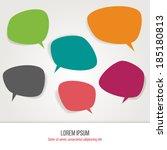 colorful  speech bubbles.  | Shutterstock .eps vector #185180813