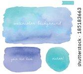 wet watercolor vector...   Shutterstock .eps vector #185183663