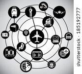airport management network ...   Shutterstock .eps vector #185192777