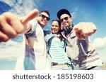 summer holidays and teenage... | Shutterstock . vector #185198603