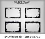 grunge frames. vector... | Shutterstock .eps vector #185198717