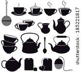 tea icons. vector set  eps 8.   Shutterstock .eps vector #185221817