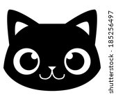 vector cartoon adorable cat...   Shutterstock .eps vector #185256497