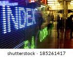 hong kong stock market price... | Shutterstock . vector #185261417