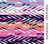 seamless geometric ethnic... | Shutterstock .eps vector #185291843