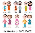 family members set illustration ... | Shutterstock . vector #185299487
