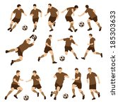 football players silhouettes.... | Shutterstock .eps vector #185303633