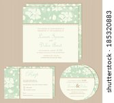 set of wedding invitation cards ... | Shutterstock .eps vector #185320883