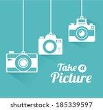 photography design over blue... | Shutterstock .eps vector #185339597